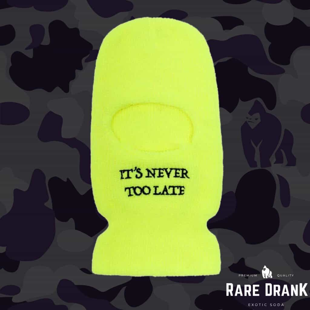 """""""It's Never Too Late"""" Ski Mask"""